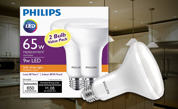 Philips Medium Dimmable LED Floodlight Light Bulbs