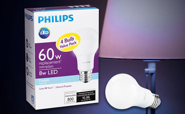 Philips A19 Medium LED Light Bulbs